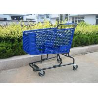 China Heavy Duty Metal Shopping Trolley Folding 4 Wheel Supermarket Shopping Carts wholesale