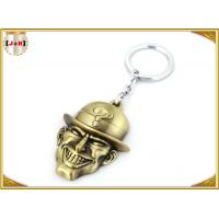 China Brass Plated Metal Key Ring , Customised Key Chains With Free Laser Engraved Logo wholesale