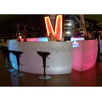 China LED furniture maufacturer  factory LED bar counter with LED lighting and remote wholesale