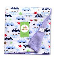 Quality Double side printed soft polar fleece baby knitted blanket for baies, Knitted for sale