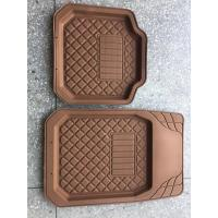 Buy cheap PVC cheap price black grey beige red standard size car foot mat for all car use from wholesalers