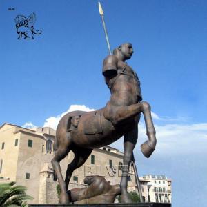 China BLVE Bronze Greek Centaur Sculpture Metal Roman Warrior Outdoor Famous Statue wholesale
