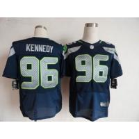 China Nike NFL Seattle Seahawks #96 Cortez Kennedy blue Elite jersey wholesale
