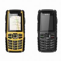 China Water-resistant Mobile Phones/Quad-band GSM Phones with Walkie Talkie and GPS Navigation Function wholesale