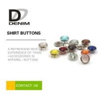 China Novelty Shirt Dreess Buttons Brass Pearl Prong Snap Colored Press Buttons High Strength wholesale