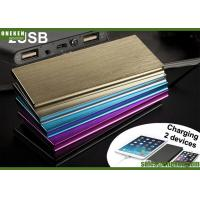 China 6000mAh Ultra Slim Power Bank Dual USB Output With LED Flash Light wholesale