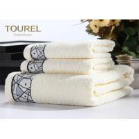 China 5 Star Hotel Towel Set 16s White Pink Hotel Brand Bath Towels wholesale