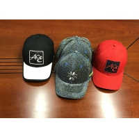 China High quality ACE custom design logo and material and color 6panel structured baseball caps hats wholesale