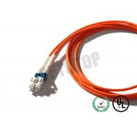 China 3mm 1F Multimode Fiber Patch Cord  Orange , Custom Fiber Optic Jumper wholesale