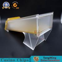 China 6-8 Deck Golden Acrylic Frosted Casino Customized Poker Card Shoe, Poker Dealer Set, 8 Deck Card Shoe YM-DS01-2 on sale