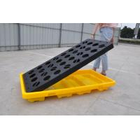 China Polyethylene Spill Containment Pallets With Drains For Oil Drums / Chemical Barrels wholesale