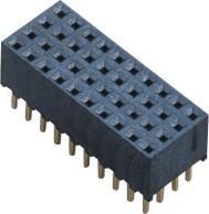 China Female Header Connector 2.0mm Three Row 180° DIP H=6.5mm  LCP UL94V-0 Phosphor Bronze wholesale