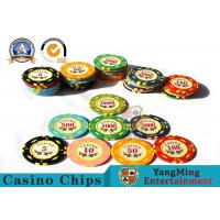 11.8g Colorful Casino Poker Chips And Cards / Custom Plaque Stickers for sale