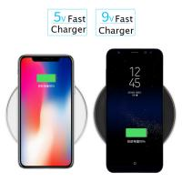 Fully Compatible Zinc Alloy 10W 7.5W Qi Wireless Charger For iPhone For Samsung