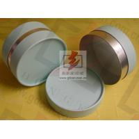 China Small Composite Paper Cans Packaging UV Coating with Ribbon wholesale