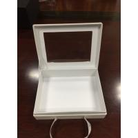 China Paper gift box with bowknots,hardcover box with window, wholesale