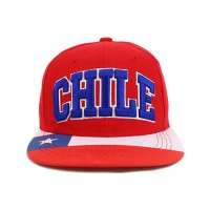 China 3D Embroidery Red Flat Brim Snapback Hats Custom Symbol wholesale