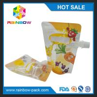 China Recycled PET / NY / PE Stand Up Bags Gravure Printing For Liquid wholesale