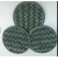 Buy cheap Gray Twisted Round Microfiber Wet Mop Pads 10mm Sponge 260gsm Self - Adhensive from wholesalers