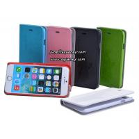 China The most popular learther case for Iphone6, Iphone 6 mobile phone case with card holder wholesale