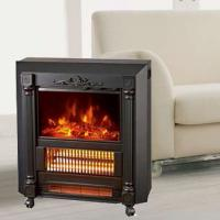 China Mobile Fireplaces electric heater fire log electric stove SF-1424 flame effect room Heater Quartz tube infrared wheels wholesale