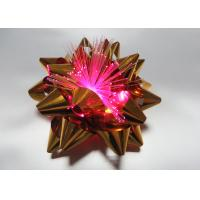 Quality Fiber - optic Metallic PET LED bows for Celebrative Wedding / Party / Holiday for sale