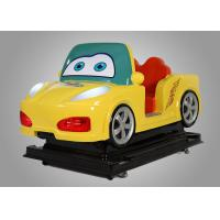 China Kids Car Driving Fiber Glass Coin Operated Kiddie Rides With Interaction Screen wholesale