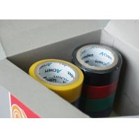 China 120 Mic Coated Adhesive Insulation Tape With Rubber Adhesive PVC Coloured wholesale