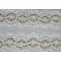 China Underwear Metallic Lace Fabric Nylon Polyester Spandex Material CY-LW0798 wholesale