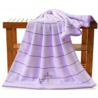 China Embroidered Lavender Bath Towel For Adults , 70 * 140cm Oversized Bath Towels  wholesale