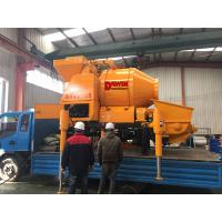 China Automatic concrete mixing pump mixer pump with cordless remote control and electric control panel wholesale