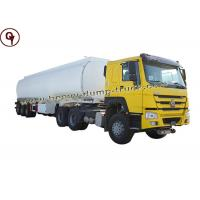 China ISO SGS 6 Axle Fuel Tank Truck Oil Tanker Truck Maximum Speed 85 Km / H on sale