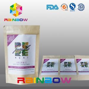 China Logo Printed Chia Seeds Krafter Paper Ziplock Bag / Nut Snack Food Packaging on sale