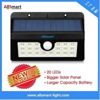 China 20LED 440lumens 4W motion sensor solar wall light with mounting bracket triangular shape Li-ion battery solar lamp wholesale