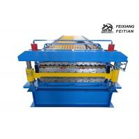 China Corrugated / IBR Double Layer Roll Forming Machine PLC Control For Construction wholesale