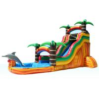 China Water Park 2 In 1 Pool  Kids Inflatable Water Colorful Slide Fire Retardant For Outdoor Activities on sale