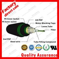 China Outdoor Underground Direct-buried fibre optic cable gyxts53 unitube armored optical cables with Black PE PSP sheath wholesale