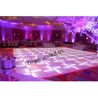China Ip50 Transparent Glass Rgb Led Dance Floor For Wedding Party Clun Decora wholesale
