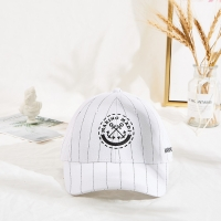 China Marino Madi Hip Hop Embroidered Baseball Caps White Color Black Strip wholesale