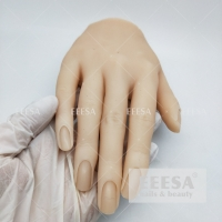 China White Skin Movable Female Finger For Nails Practice Silicon Hand Model wholesale