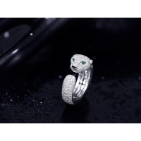China luxury jewelry online VS Diamond N4225200 Panthere Cartier Ring With Emeralds Onyx wholesale