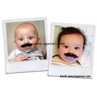 China Funny Baby Pacifier With Beard Mustache Silicone Soother Nipple Clips Pacifiers wholesale