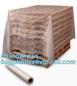 China moisture proof reusable virgin plastic pallet cover, poly square bottom bag pallet top cover bags plastic vinyl cover fo wholesale