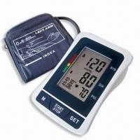 China Digital Blood Pressure Monitor with Arm-type, Date/Time Stamp and Deluxe Carry Case wholesale