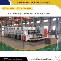 China High Speed Cardboard Box Making Machine With Big Production Per Day on sale