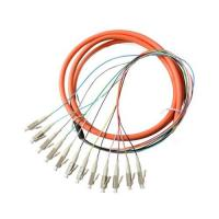 China G657A UPC 12core Fiber Optic Breakout Pigtail MPO Connector wholesale