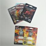 Buffalo Happy Time Blister Pack Packaging Rhino Pill Blister Paper Cards Custom