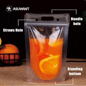 China Fruit Juice Liquid PET Metallized Liner Stand Up Zipper Bags on sale