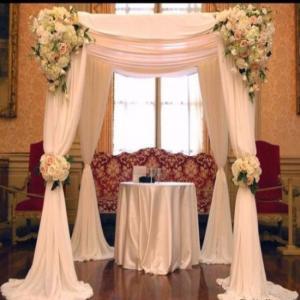 China WHOLESALE event wedding aluminum backdrop stand pipe drape LOWEST PRICE mandap sale india on sale