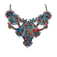 China New products high quality chunky bib necklace, fashion women bib collar necklace wholesale